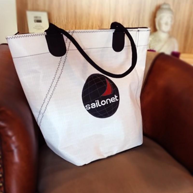 shopping tasche mit rei verschluss. Black Bedroom Furniture Sets. Home Design Ideas