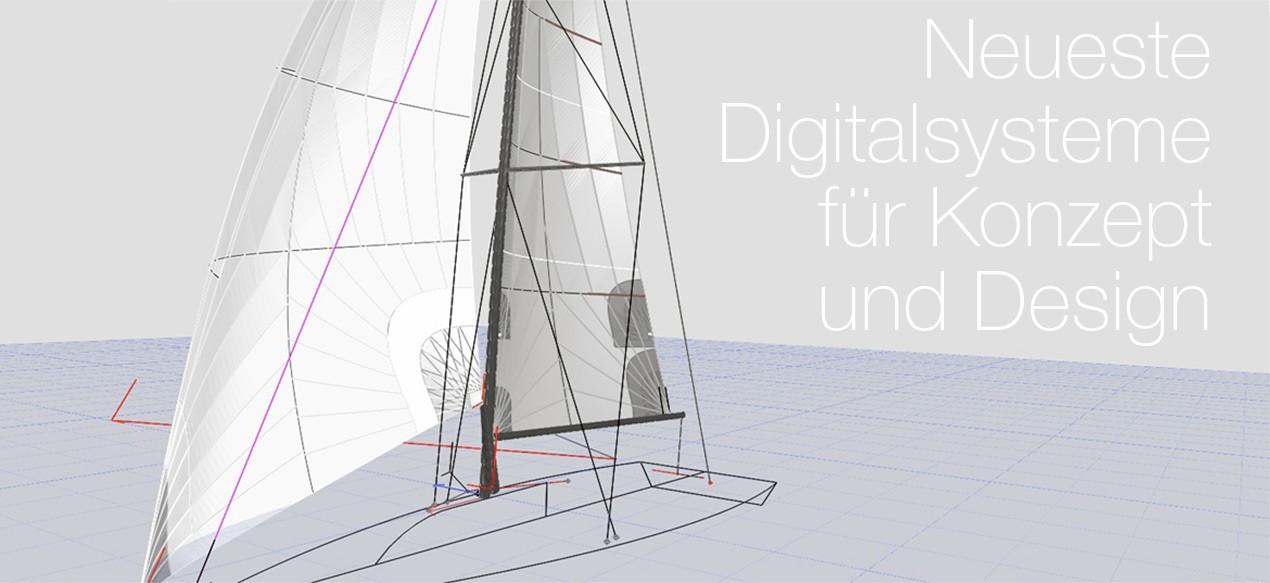 Neueste Digitalsysteme für Konzept und Design