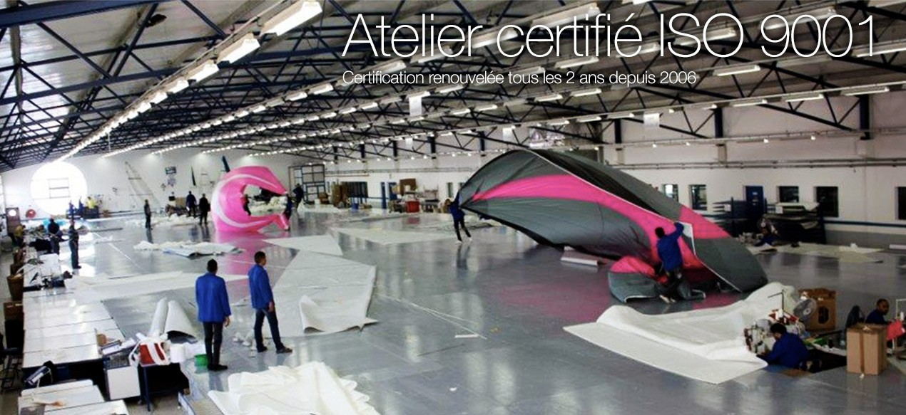 Atelier certifié ISO 9001