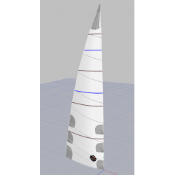 Grand-voile lattée (fullbatten)