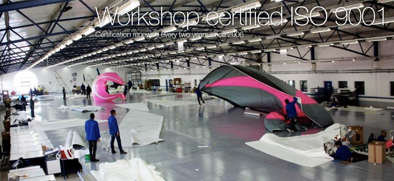 Workshop certified ISO 9001